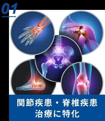 関節疾患・脊椎疾患治療に特化